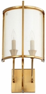 Quorum 562-2-80 Highline Contemporary Aged Brass Wall Sconce