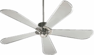 Quorum 59605-65 Dragonfly Contemporary Satin Nickel w/ Grey Mylar Blades 60  Home Ceiling Fan