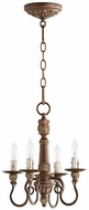 Quorum 6006-4-39 Salento Vintage Copper Mini Chandelier Light