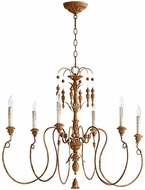 Quorum 6006-6-94 Salento French Umber Ceiling Chandelier