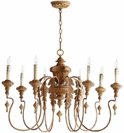 Quorum 6006-8-94 Salento French Umber Chandelier Lighting