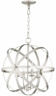 Quorum 6009-4-65 Celeste Contemporary Satin Nickel 19  Hanging Light Fixture
