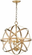 Quorum 6009-4-80 Celeste Modern Aged Brass 19  Drop Lighting
