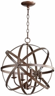 Quorum 6009-4-86 Celeste Contemporary Oiled Bronze 19  Drop Ceiling Lighting