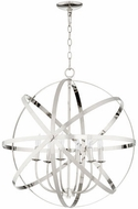 Quorum 6009-6-62 Celeste Contemporary Polished Nickel 25.5  Ceiling Pendant Light