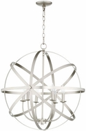 Quorum 6009-6-65 Celeste Modern Satin Nickel 25.5  Drop Ceiling Light Fixture