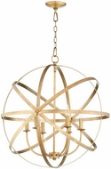 Quorum 6009-6-80 Celeste Contemporary Aged Brass 25.5  Drop Lighting Fixture