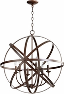 Quorum 6009-6-86 Celeste Modern Oiled Bronze 25.5  Pendant Lighting
