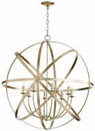 Quorum 6009-8-60 Celeste Contemporary Aged Silver Leaf 33  Pendant Light