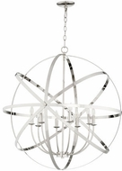 Quorum 6009-8-62 Celeste Modern Polished Nickel 33  Lighting Pendant