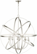 Quorum 6009-8-65 Celeste Contemporary Satin Nickel 33  Pendant Lamp