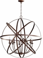 Quorum 6009-8-86 Celeste Contemporary Oiled Bronze 33  Hanging Light