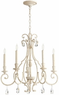 Quorum 6014-5-70 Ansley Traditional Persian White Chandelier Lighting