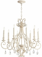 Quorum 6014-8-70 Ansley Traditional Persian White Chandelier Lamp