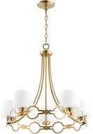 Quorum 6021-5-80 Durand Aged Brass Mini Chandelier Lighting