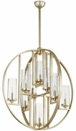 Quorum 603-10-60 Julian Modern Aged Silver Leaf w/ Clear/Seeded 32  Pendant Light Fixture