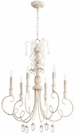 Quorum 6044-6-70 Venice Traditional Persian White Hanging Chandelier
