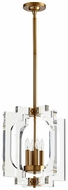 Quorum 605-4-80 Broadway Contemporary Aged Brass 15  Foyer Lighting Fixture