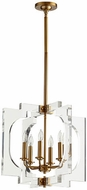 Quorum 605-6-80 Broadway Contemporary Aged Brass 20  Foyer Lighting