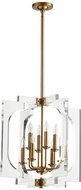Quorum 605-8-80 Broadway Contemporary Aged Brass 21  Foyer Lighting Fixture
