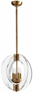 Quorum 606-4-80 Broadway Modern Aged Brass 16  Foyer Light Fixture
