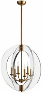 Quorum 606-6-80 Broadway Modern Aged Brass 24  Entryway Light Fixture