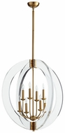 Quorum 606-8-80 Broadway Contemporary Aged Brass 28  Foyer Lighting