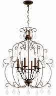 Quorum 6105-6-39 Ariel Traditional Vintage Copper Mini Chandelier Light