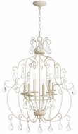 Quorum 6105-6-70 Ariel Traditional Persian White Mini Ceiling Chandelier