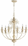Quorum 6106-6-70 Salento Persian White Chandelier Lamp
