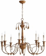 Quorum 6106-8-94 Salento French Umber Chandelier Light