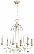 Quorum 6144-6-70 Venice Traditional Persian White Lighting Chandelier