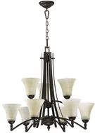 Quorum 6177-9-86 Aspen Oiled Bronze Chandelier Light