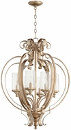 Quorum 6180-6-60 Chalon Modern Aged Silver Leaf Drop Lighting
