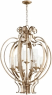 Quorum 6180-9-60 Chalon Contemporary Aged Silver Leaf Drop Ceiling Lighting