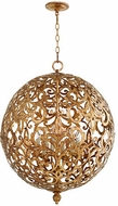 Quorum 6192-6-30 Le Monde Modern Vintage Gold Leaf 24  Hanging Light