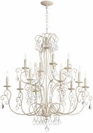 Quorum 6205-12-70 Ariel Traditional Persian White Lighting Chandelier