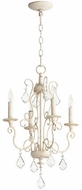 Quorum 6205-4-70 Ariel Traditional Persian White Mini Chandelier Light