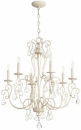 Quorum 6205-6-70 Ariel Traditional Persian White Hanging Chandelier