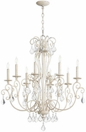 Quorum 6205-8-70 Ariel Traditional Persian White Chandelier Lighting