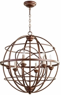 Quorum 6216-6-39 Salento Vintage Copper Drop Ceiling Light Fixture