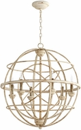 Quorum 6216-6-70 Salento Persian White With Mystic Silver Drop Lighting Fixture