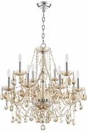 Quorum 630-12-614 Bohemian Katerina Traditional Chrome Ceiling Chandelier