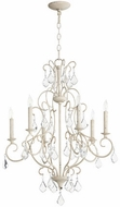 Quorum 6305-6-70 Ariel Traditional Persian White Hanging Chandelier