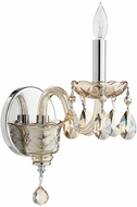 Quorum 631-1-614 Bohemian Katerina Traditional Chrome Lamp Sconce