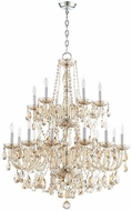 Quorum 631-18-614 Bohemian Katerina Traditional Chrome Chandelier Lamp