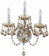 Quorum 631-3-614 Bohemian Katerina Traditional Chrome Wall Lighting Sconce