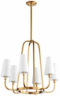Quorum 632-6-80 Highline Contemporary Aged Brass Chandelier Lighting