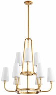 Quorum 632-9-80 Highline Contemporary Aged Brass Chandelier Lamp