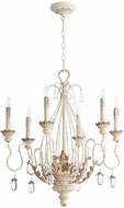 Quorum 6344-6-70 Venice Traditional Persian White Chandelier Light